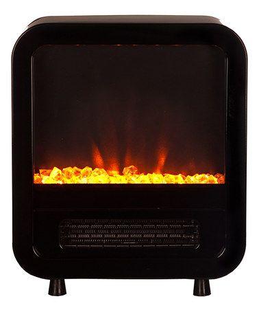 Another great find on #zulily! Black Skyline Electric Fireplace Stove #zulilyfinds