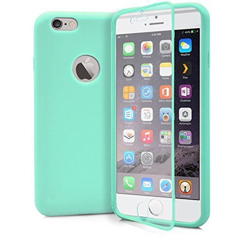 AMAZING DEAL!  iPhone 6 Case, MagicMobile® Wrap - Up Touch Case for iPhone 6 Ultra Slim Dust Resistant Hybrid Hard TPU Protective Soft Fit iPhone 6 Summer Case with Built-In Touch Screen Protector [ Color: Turquoise/Tiffany Blue