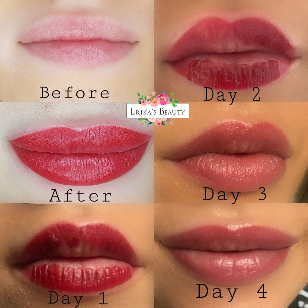 Discreet countourless lip blush Lip healing, Permanent