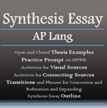ap language and composition synthesis essay  lesson plans from the  in this document you can find  overview of the synthesis essay with