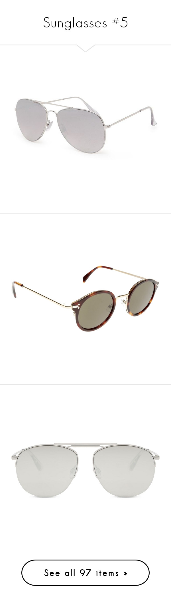 """""""Sunglasses #5"""" by marissa-91 ❤ liked on Polyvore featuring accessories, eyewear, sunglasses, glasses, silver mirror sunglasses, mirrored aviators, mirrored glasses, mirror sunglasses, silver sunglasses and brown"""