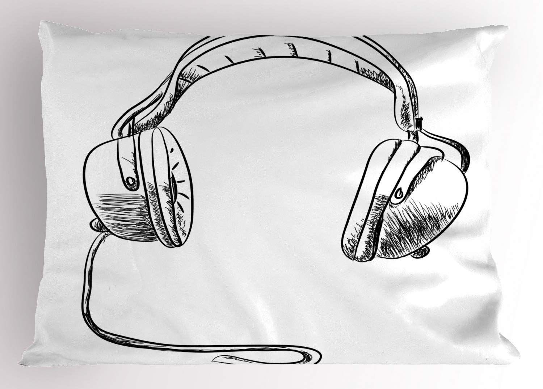 Pillow Sham Sketch Style Hand Drawn