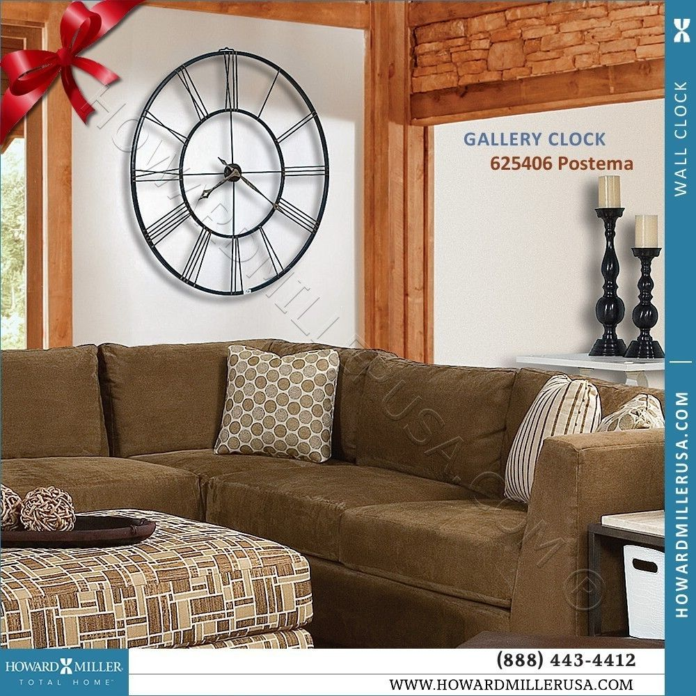 625 406 Howard Miller 49 Large Black Wrought Iron Wall Clock Quartz Postema