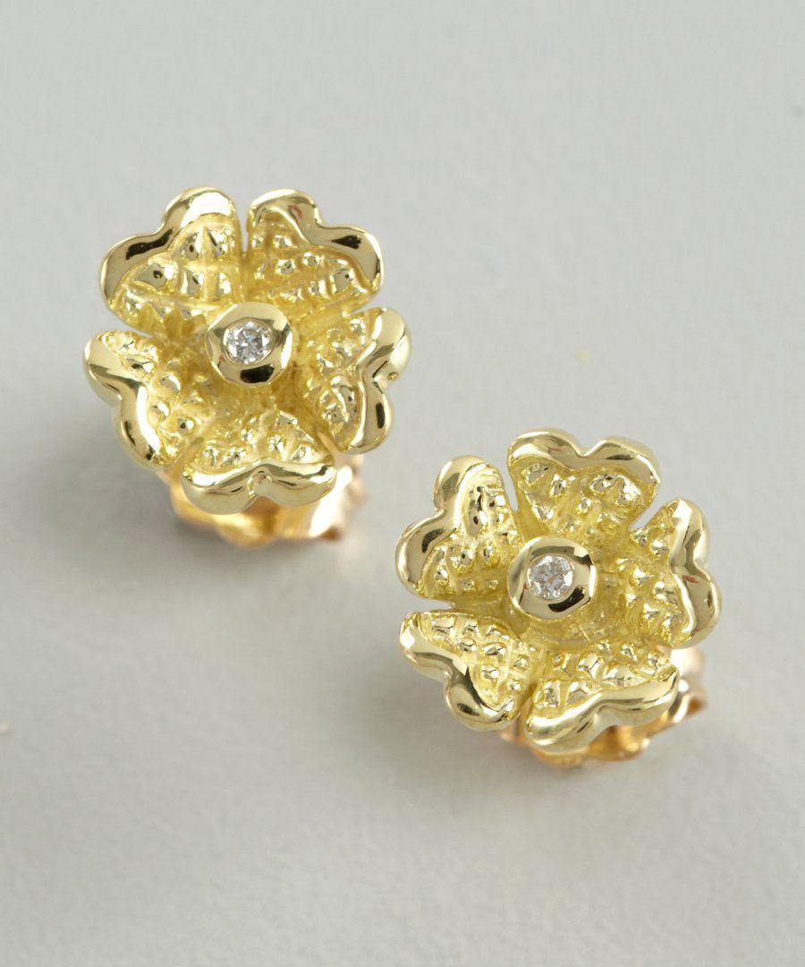 241-Judith-Ripka-women-s-gold-and-diamond-Dogwood-flower-stud ...