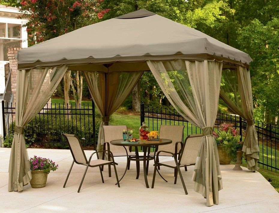 10 X 10 Easy Up Gazebo Canopy Tent Outdoor Portable Patio Canopy Tent Outdoor Patio Gazebo Backyard Gazebo