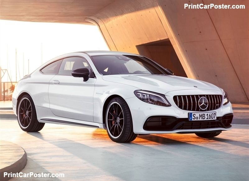 Mercedes Benz C63 S Amg Coupe 2019 Poster Mercedes Benz C63