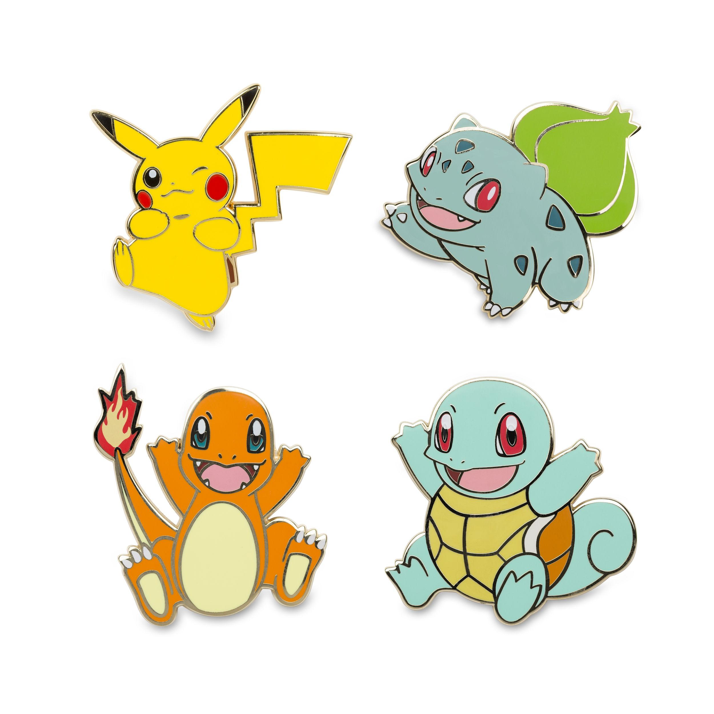 Official Pikachu Bulbasaur Charmander And Squirtle Pokemon Pins