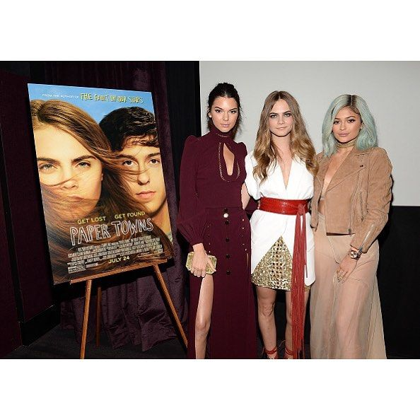 July 18, 2015 - Kylie, Kendall, and Cara at the screening of 'Paper Towns' at The London West Hollywood in West Hollywood, CA