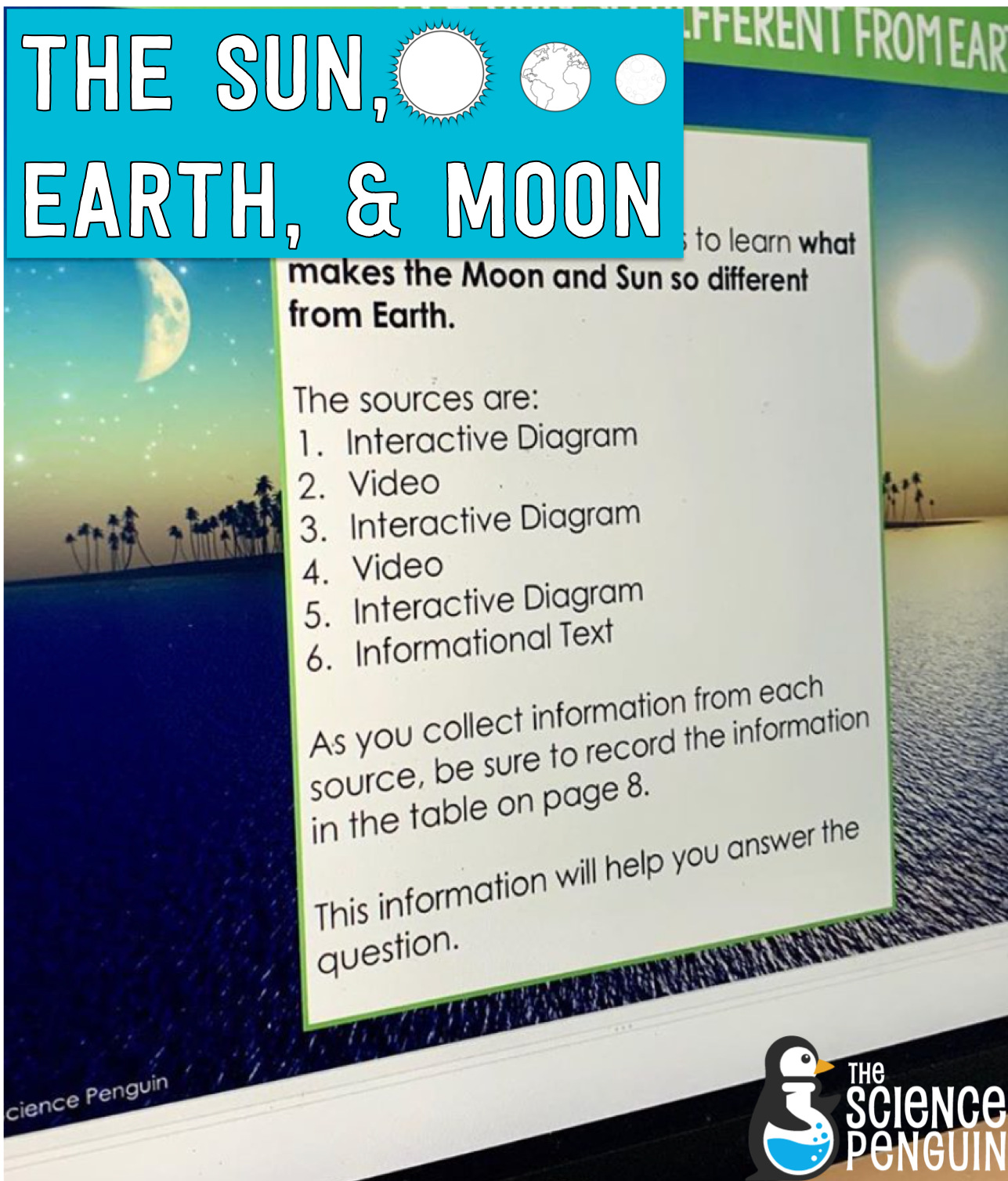 5 Ideas For Teaching About Our The Sun Earth And Moon In