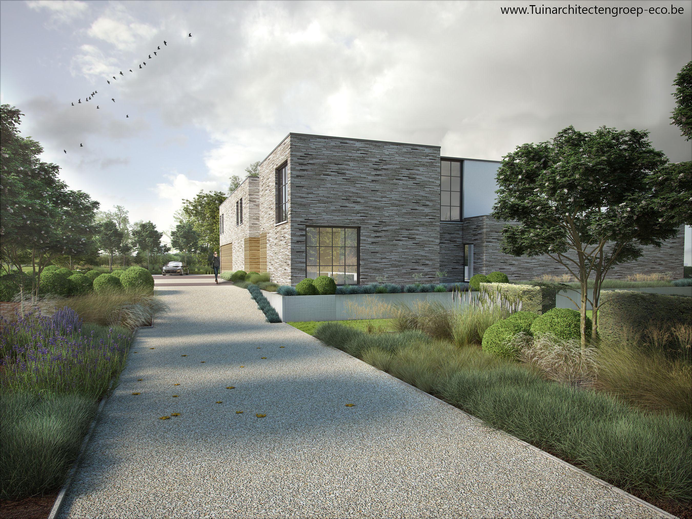 Tuinontwerp timothy cools : tuinarchitectengroep eco moderne tuin en