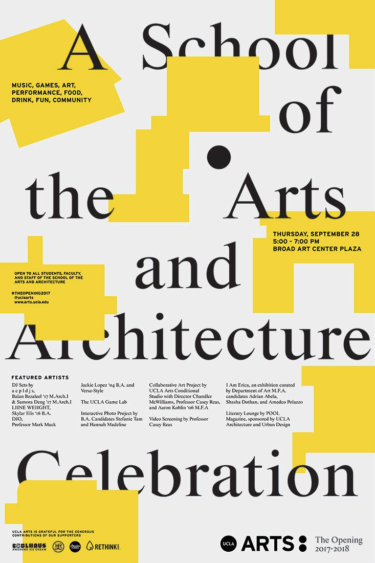UCLA School Of The Arts And Architecture | Use All Five | Branding, Web  Design