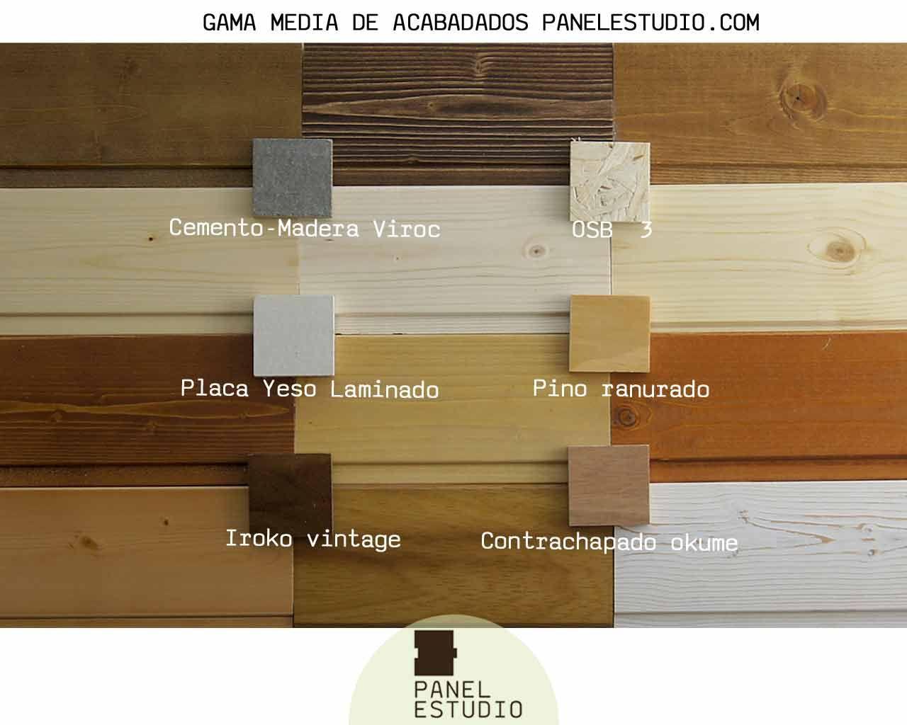 Gama de colores de paneles de madera decorativos gama for Aislante para tejados
