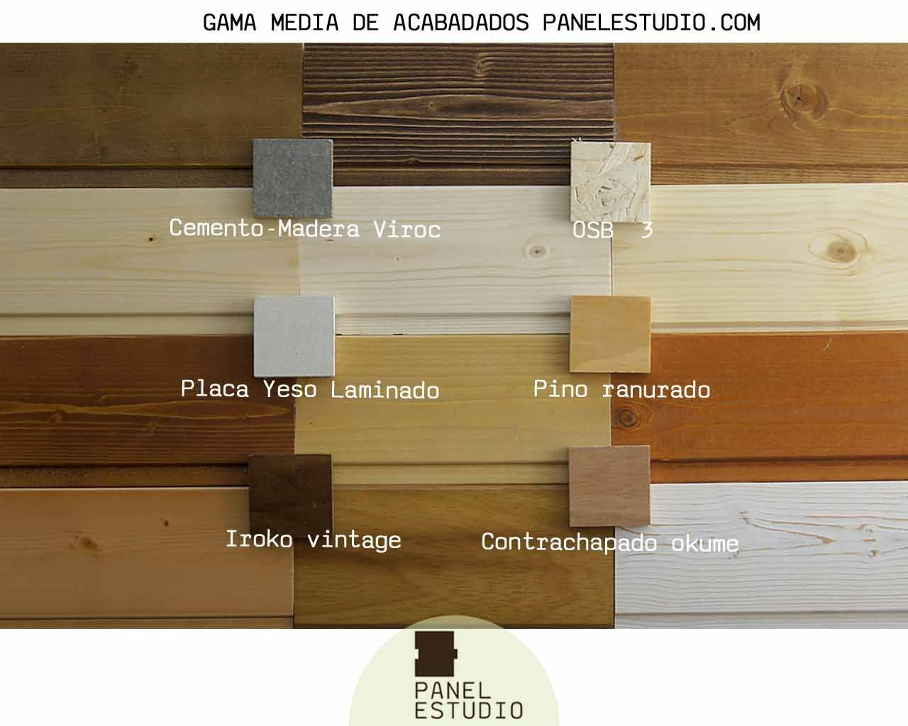 Gama de colores de paneles de madera decorativos gama for Sandwich para tejados de madera