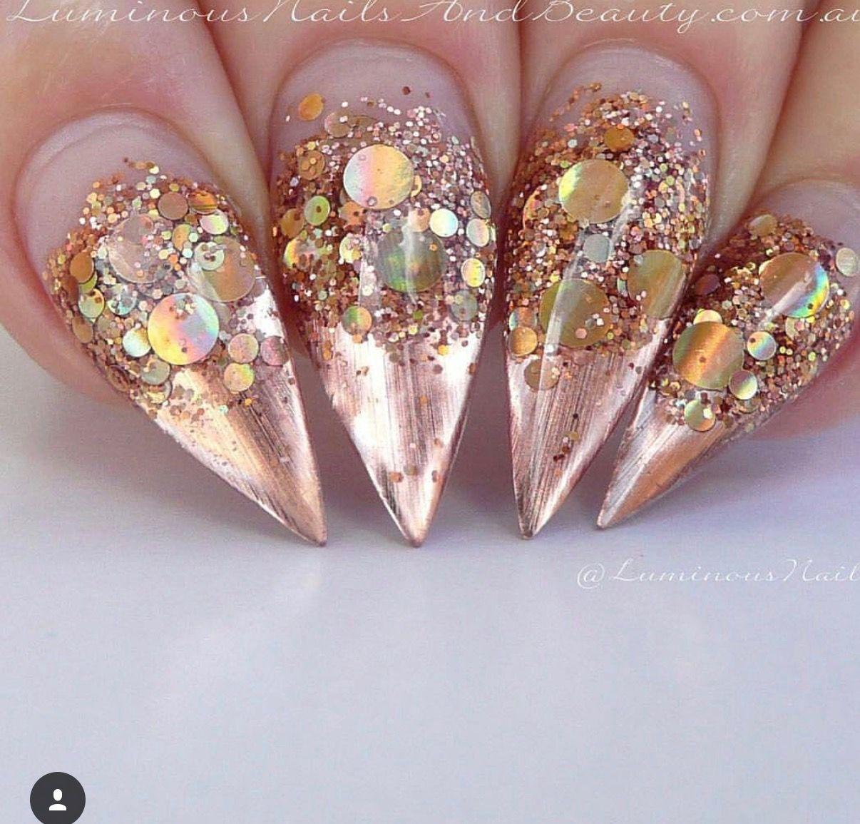 Pin By Monique On Nails Gold Nails Luminous Nails Gold Nail Art