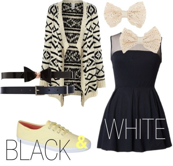 """""""Black and white"""" by ysabella2002 ❤ liked on Polyvore"""
