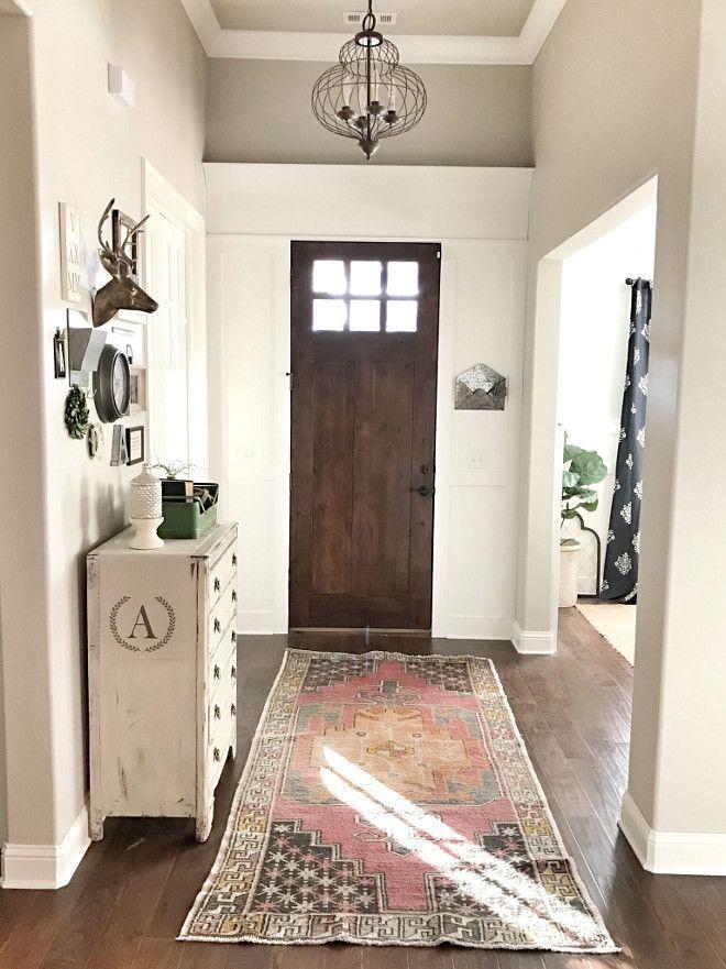 Foyer natural cream paint entryway paint colors ideas - Best foyer paint colors ...