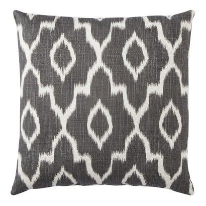 Outdoor Pillow Red Ikat Threshold