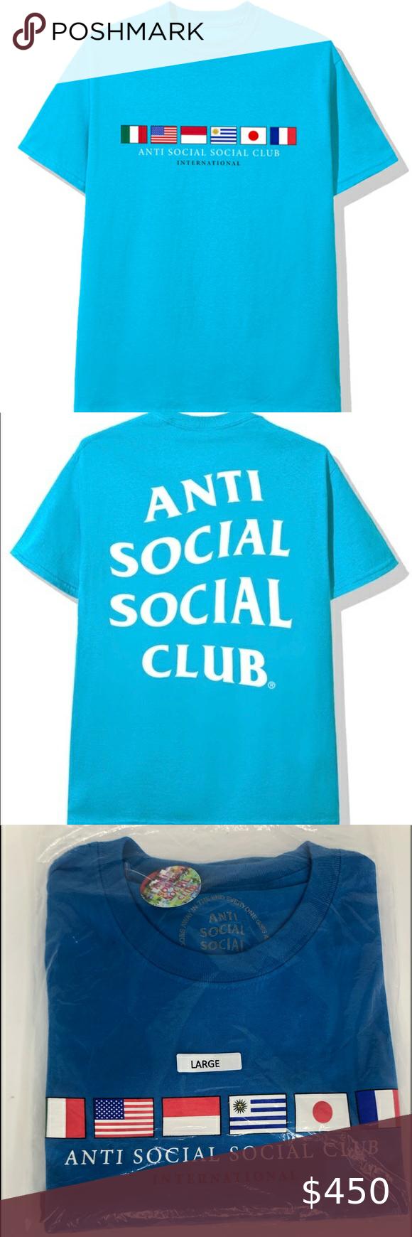 New Anti Social Social Club Members Only Tee Sz L Anti Social Social Club Anti Social Social Club
