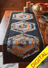 hexed table runner pattern from shopfonsandporter com quilts rh pinterest co uk