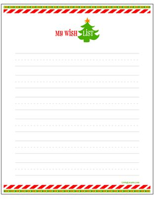 My Christmas Wish List (Plan to print one off every year and for - christmas list templates