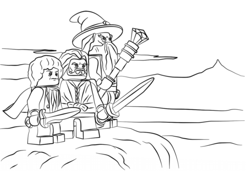 Lego the Hobbit coloring page from Misc. Lego Minifigures category ...