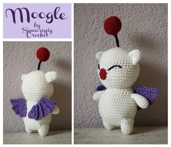 Moogle crochet pattern. This cute Moogle from FF14 is not hard to ...