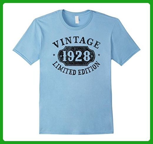 6a5f9dfb Mens 89 Years Old 89th B-day Birthday Gift 1928 Limited T-Shirt 3XL Baby  Blue - Birthday shirts (*Amazon Partner-Link)