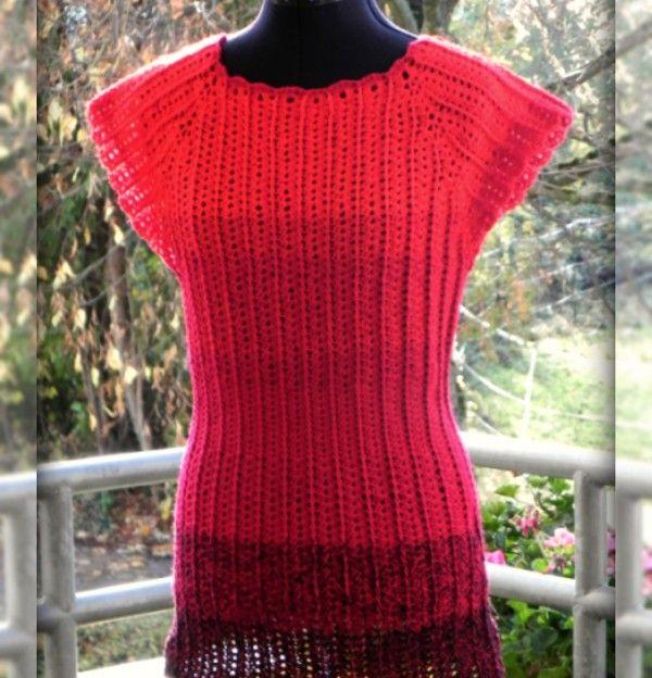 Raglan Kleid, Tunika oder Kleid PDF-Häkelanleitung für