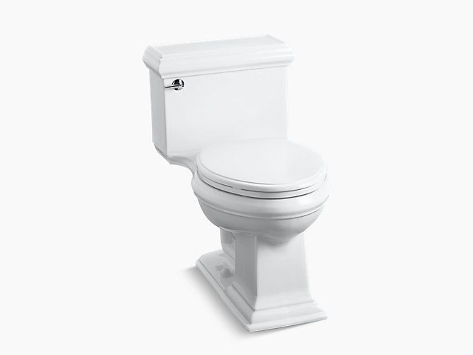 The One Piece High Efficiency K 3812 Toilet Offers A Powerful Low Consumption Flush And Features The Elegant S Toilet Bathroom Toilets Cheap Bathroom Faucets