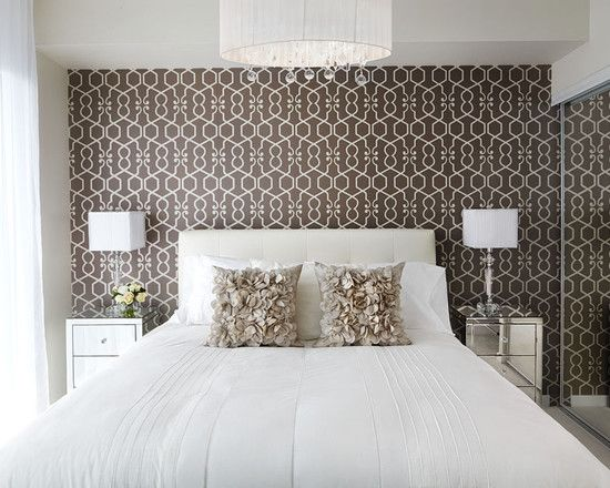Bedroom Wallpaper Accent Wall Design Pictures Remodel Decor And Ideas