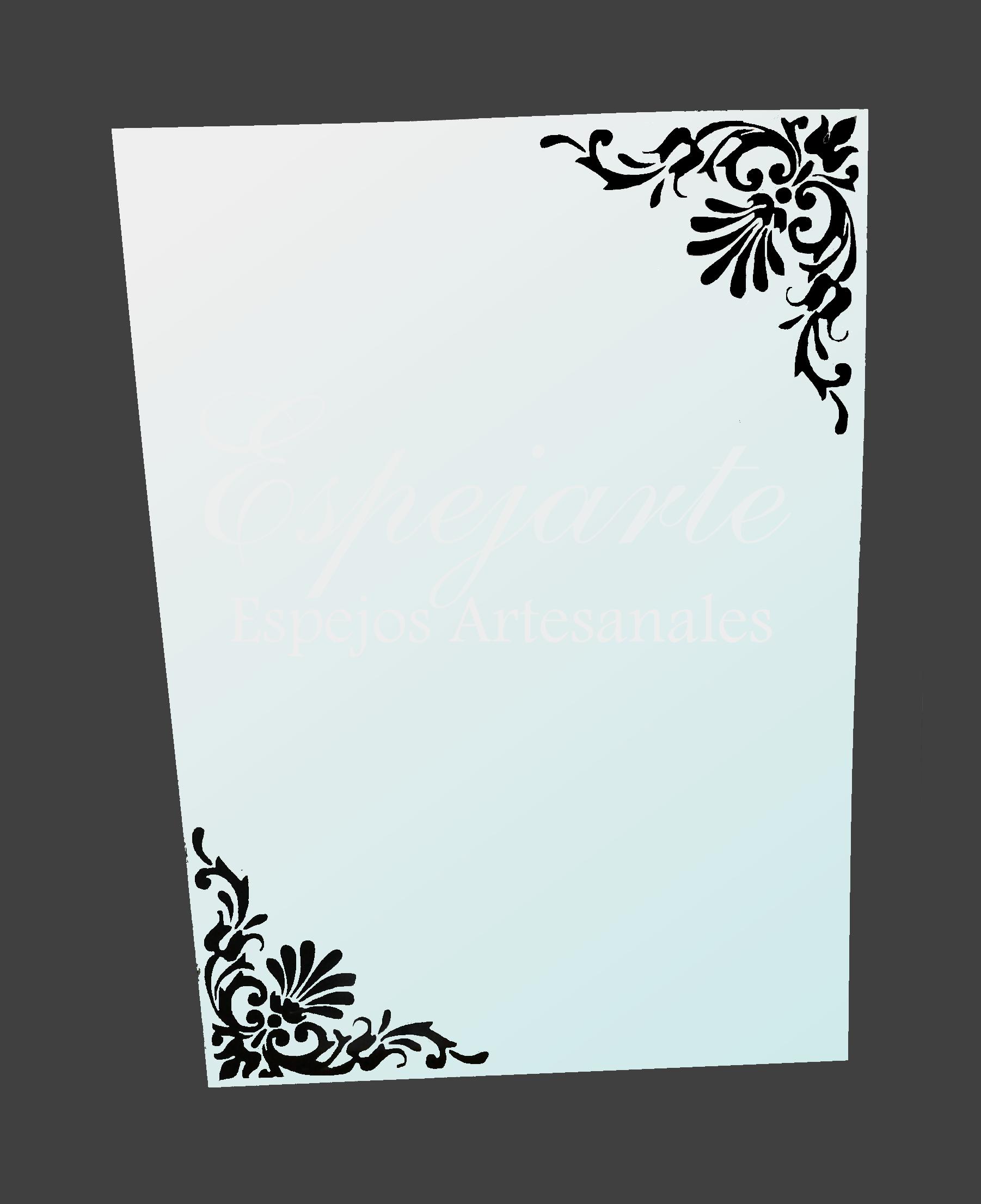 Espejo con bordes decorativos espejos pinterest for Espejo con borde biselado