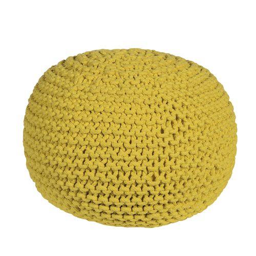 pouf en coton tricot main jardin d 39 ulysse 2 couleurs salon tv pouf pouf jaune et jardin. Black Bedroom Furniture Sets. Home Design Ideas