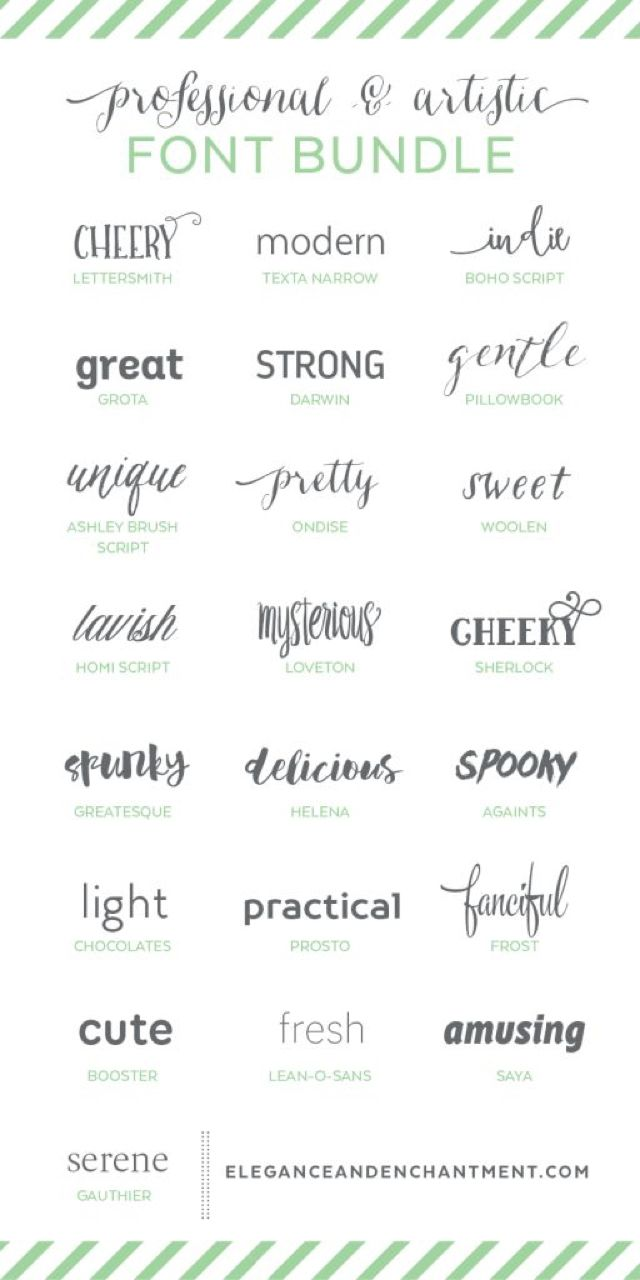 Professional And Artistic Font Bundle