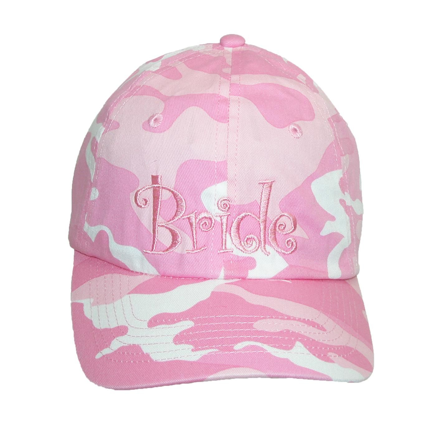 Pink camouflage pattern with embroidered \