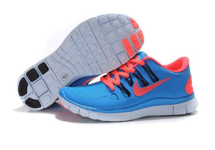 super popular d2f65 556b9 Womens Nike Free 5.0 Running Shoes Sky Blue Rose