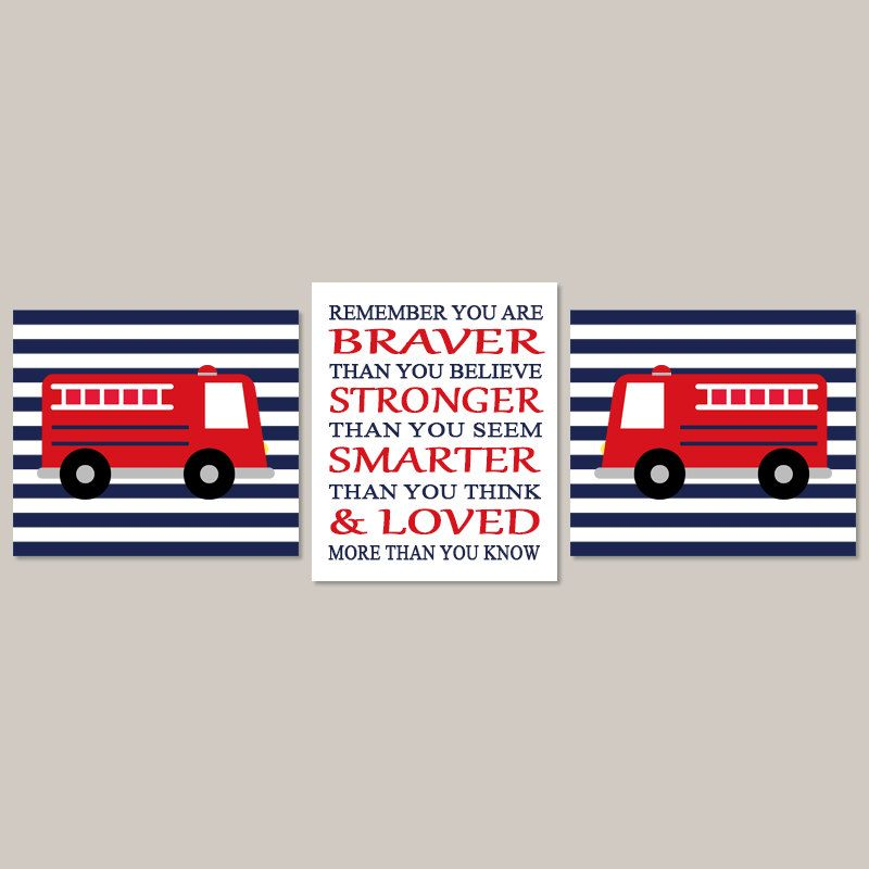 Fire Truck Wall Art Decor Prints Or Canvas