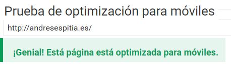 prueba de optimizacion para moviles google