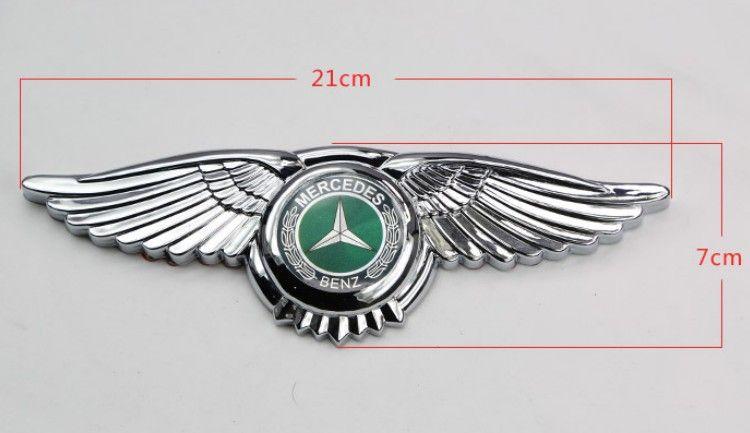 Car Wing Logo Mercedes Benz Amg Badge Emblem Eagle Wings 3d Car