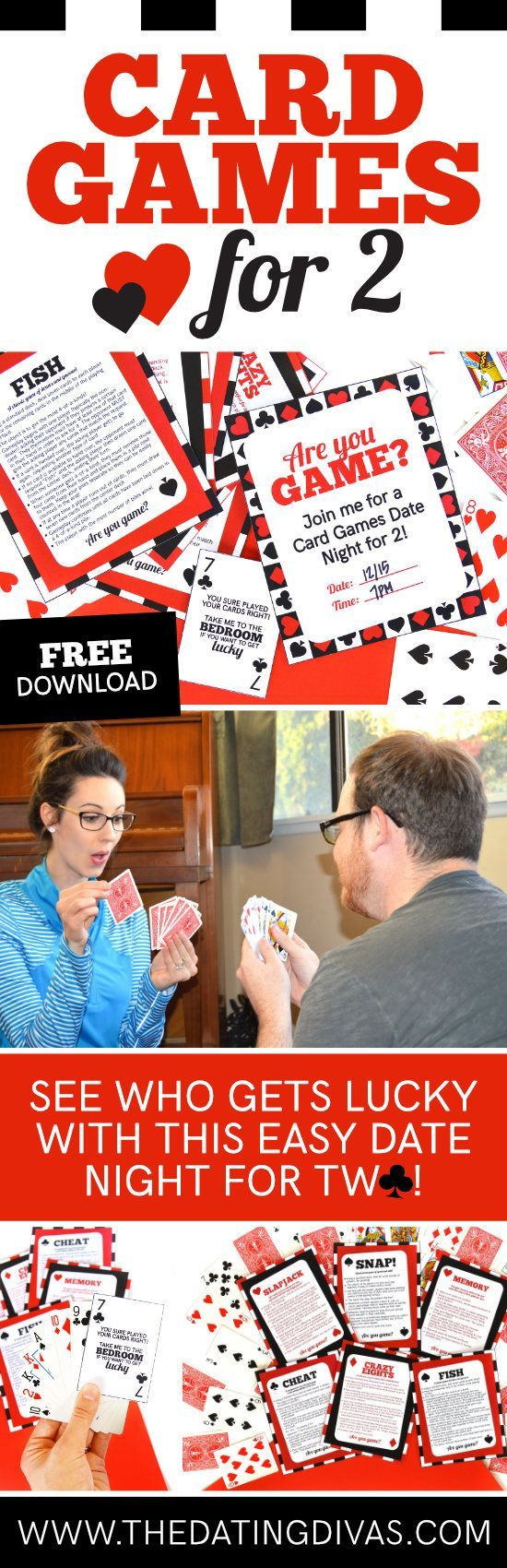 Card Games Date Night makes for the quickest and easiest