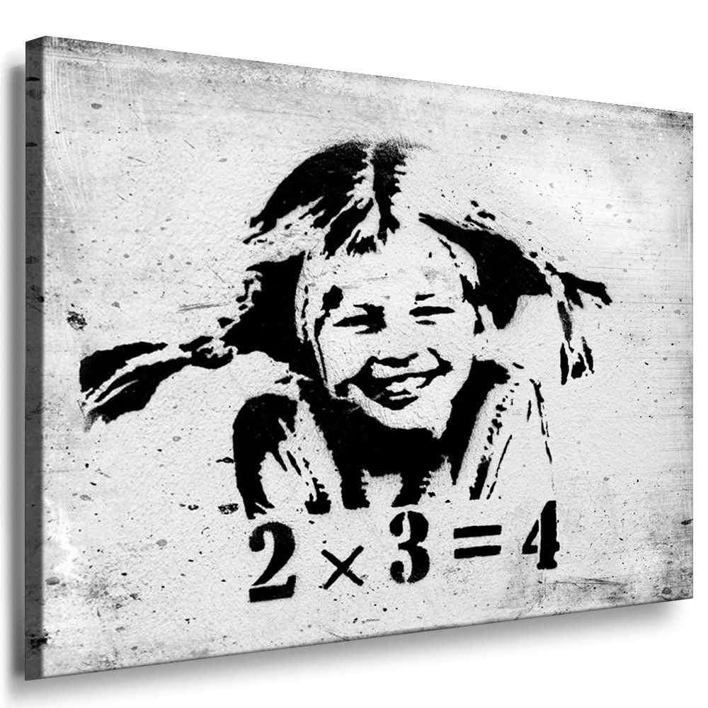 fotoleinwand24 banksy graffiti art pipi langstrumpf 2x3. Black Bedroom Furniture Sets. Home Design Ideas