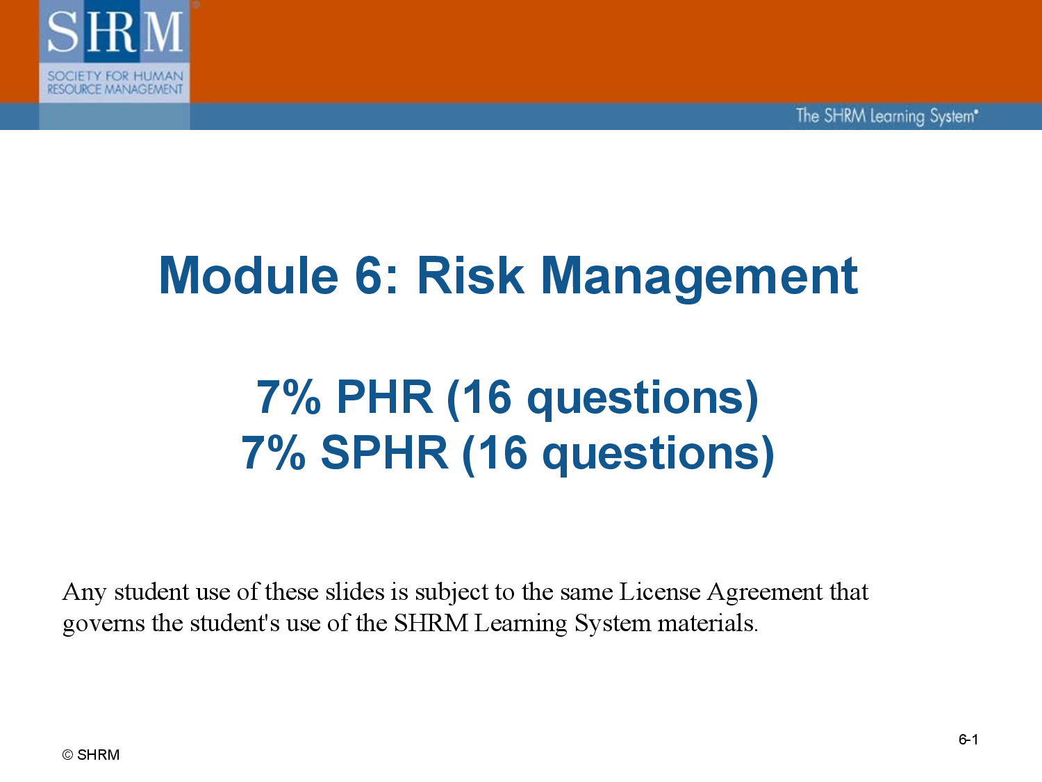 Human Resources Risk Management  Human Resources