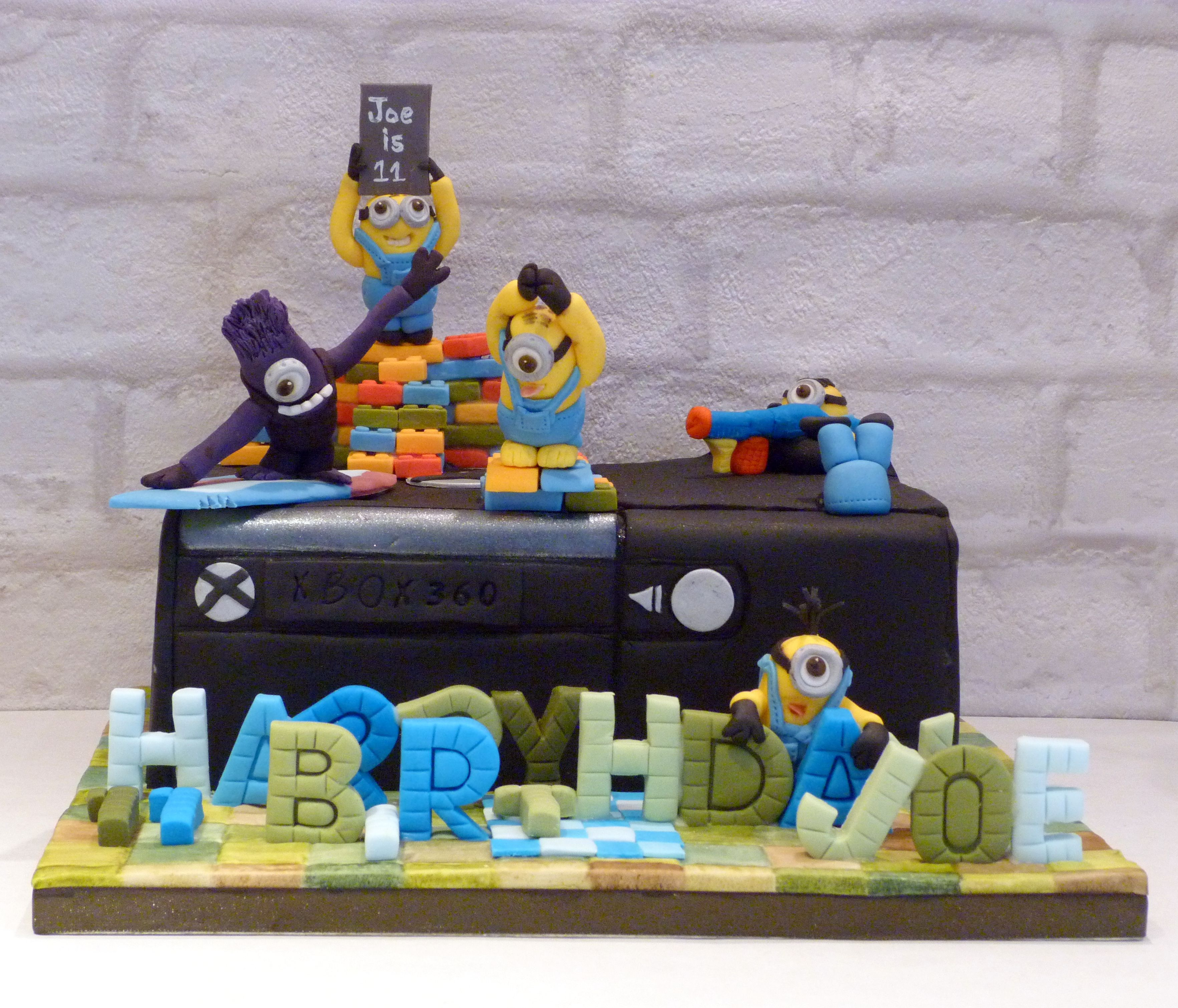 Minions & Xbox Cake, With A Nod To Minecraft, Surfing,