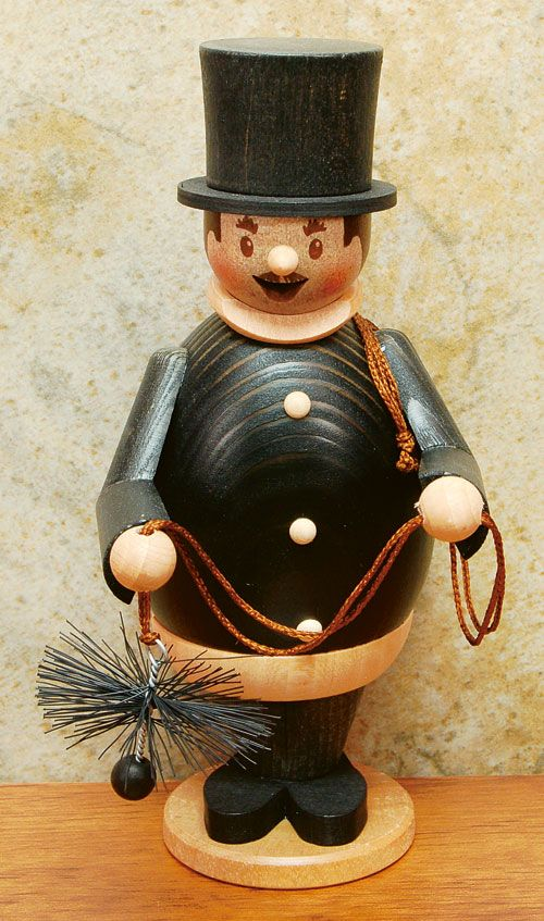 10761 Chimney Sweep Smoker Alpenlandstore Com Chimney Sweep German Christmas Decorations Christmas In Germany