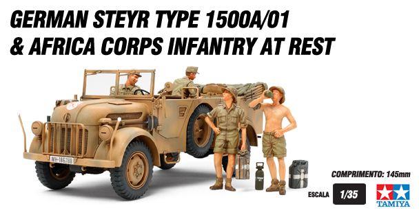 Steyr 1500A/01 & Africa Infantry at Rest