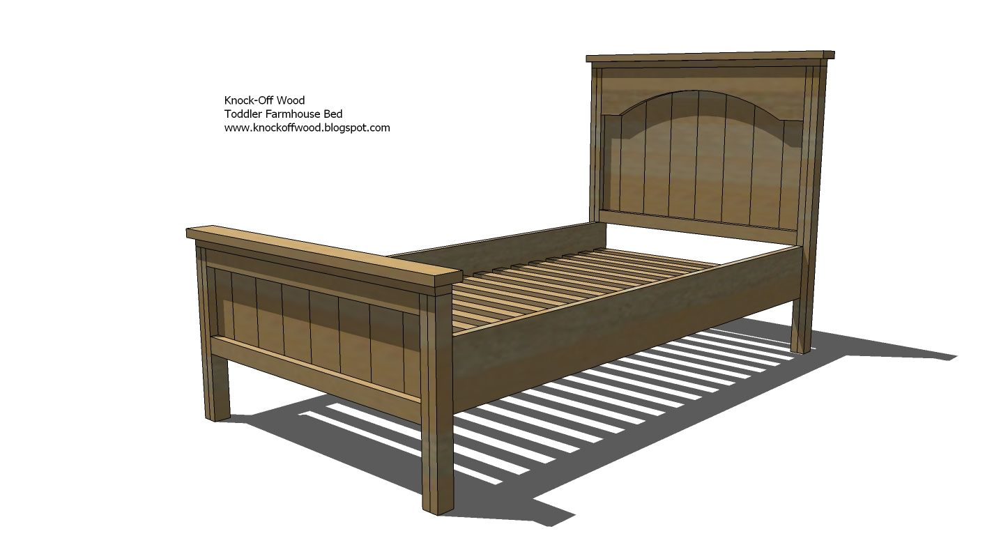 easy diy furniture projects. DIY Bed Frame Plans Ana White   Build A Toddler Farmhouse Free And Easy Diy Furniture Projects
