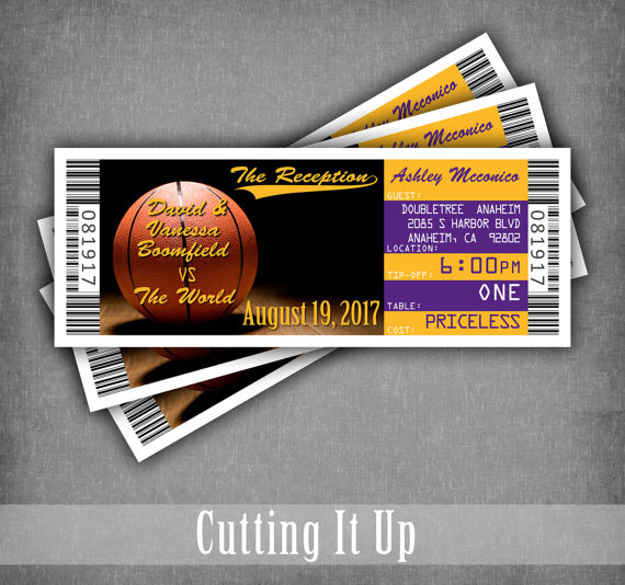basketball wedding ticket place cards seating cards escort tickets diy template tented bar. Black Bedroom Furniture Sets. Home Design Ideas