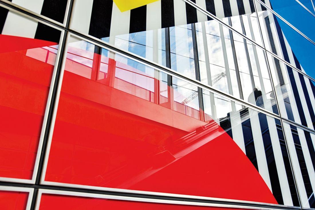 Daniel Buren S Artwork Of Shapes Colours And Trademark Stripes Launches At Tottenham Court Road Creative Boom Daniel Buren Buren Artwork