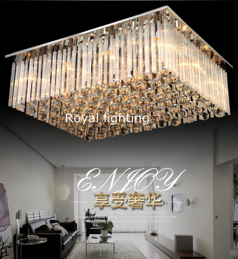 large crystal ceiling lamp hotel lobby