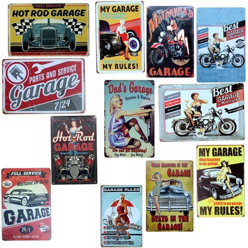 Garage Decor Signs Garage Vintage Tin Signs Retro Car Wall Bar Home Hotel Art Garage