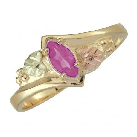 10k Black Hills Gold Ladie S Ring With Pink Tourmaline Black Hills Gold Women Rings